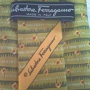 Salvatore Ferragamo Cherry 100% Silk Tie